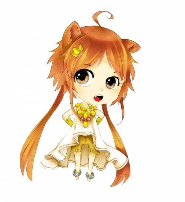 Hình Ảnh Cung Sư Tử Nữ Chibi Cute