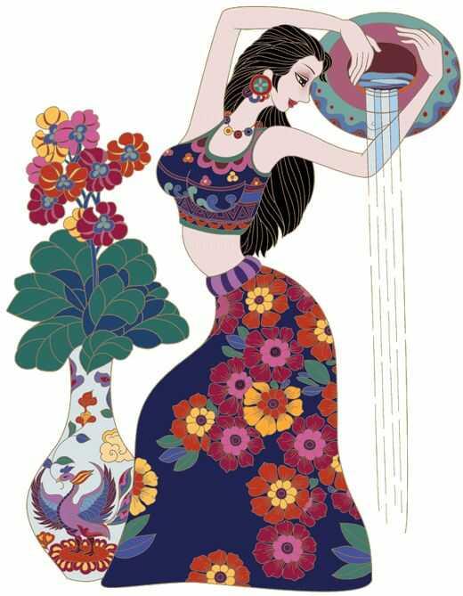 Hình Xinh Cung Bảo Bình Chibi