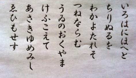 Bảng Chữ Cái Hiragana Viết Tay