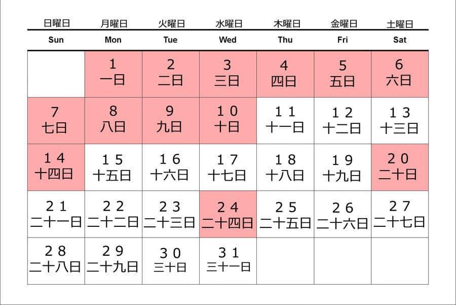Cách Đếm Ngày Trong Tiếng Nhật