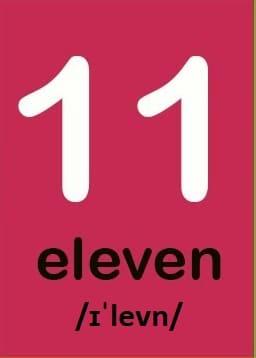 Số 11 Dịch Sang Tiếng Anh