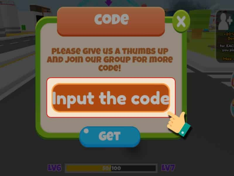 Cách Nhập GiftCode Game Dinosaur City - Bước 3