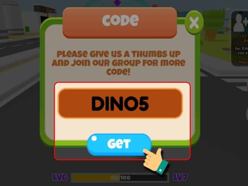 Cách Nhập GiftCode Game Dinosaur City - Bước 4