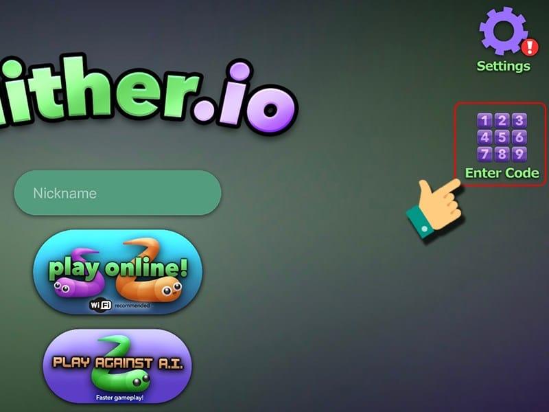Cách Nhập GiftCode Slither Io - Bước 1