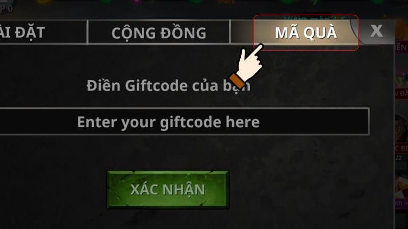 Cách Nhập GiftCode Stickman Legends - Bước 2