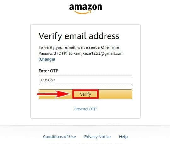 Cách Tạo Tài Khoản Amazon Prime - Bước 5