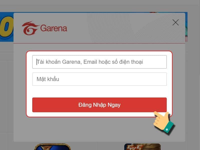 Cách nạp thẻ Garena - bước 3