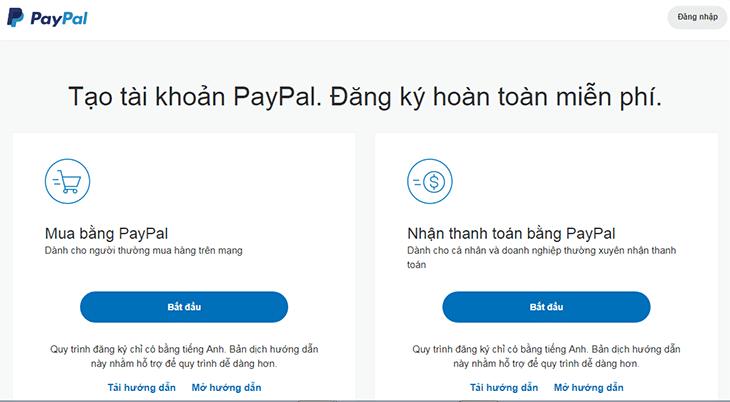 Đăng Ký Paypal - Bước 2