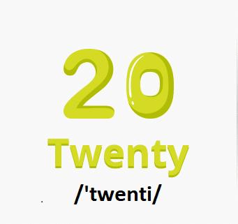 Số 20 Bằng Tiếng Anh