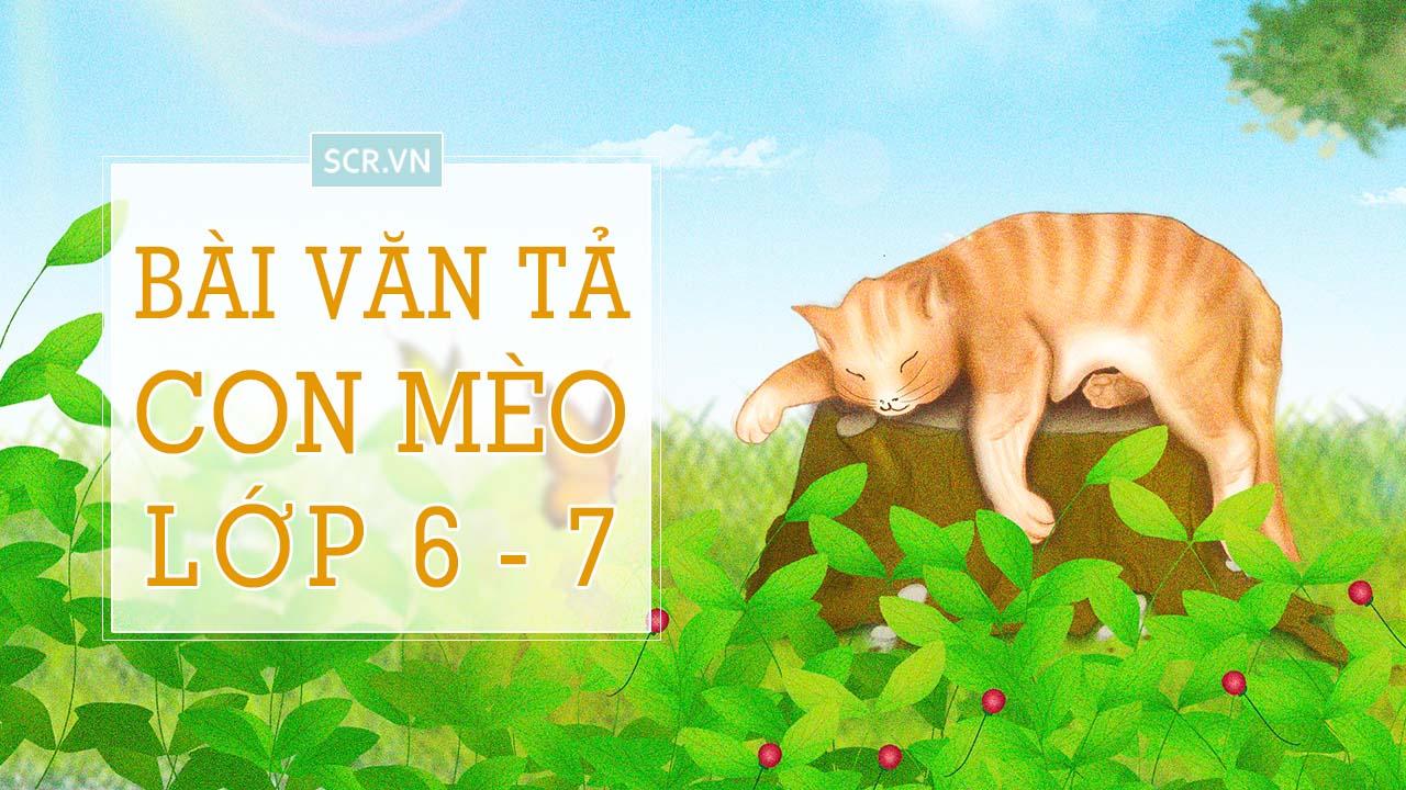 văn tả con mèo lớp 6 7